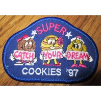 Girl Scout Gs Vintage Uniform Patch  Super Cookies 1997 Catch Your Dreams