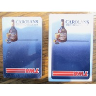 Vintage Twa Deck Carolans Irish Cream Liqueur Playing Cards Advertising Sealed