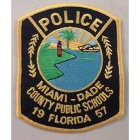 Police Miami Dade County Public Schoold 1957 Florida Uniform Patch #Mtyl