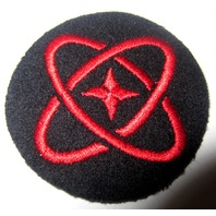 """Usn Navy Distinguishing Mark: 2""""  Nuclear Atomic Navy And Red Us Military Patch"""