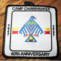 Vintage Boy Scout Patch Scout Bsa Camp Chawanakee 1947 2007 60Th Anniversary