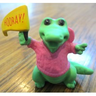 Hallmark Merry Miniatures 1989 Hooray Alligator Waving A Flag