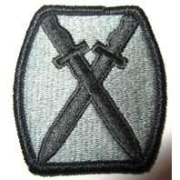 Military Uniform Patch Criss Crossing Swords Knives 10Th Mt Div