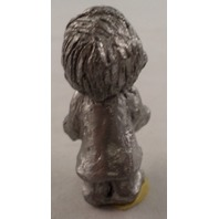 Pewter Collectible Figurine Little Boy Basketball Player Shooting Hoops