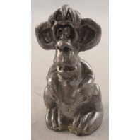 Pewter Collectible Figurine Animal Sitting Monkey Humorous Funny Character