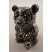 Pewter Collectible Figurine Animal Teddy Bear Sitting Position