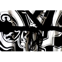 Women White House Black Market L Roman V Neck Poly/Spandex Lagenlook Tunic Top