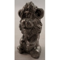 Pewter Collectible Figurine Animal Lion King Of The Jungle Caracature