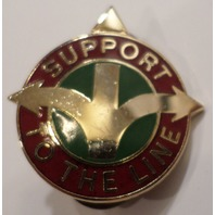 Us Military Hat Lapel Pin 419Th Transportation Battallion Support To The Line