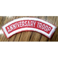 Girl Scout Uniform Patch Gs Anniversary Troop Red White Rocker Bar Tab