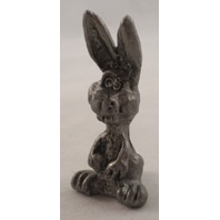 Pewter Collectible Figurine Animal Caricature Of A Bunny Rabbit