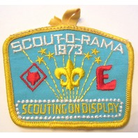 Vintage Uniform Patch Boy Scout Scout-O-Rama 1973 Scouting On Display