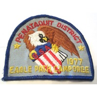 Vintage Uniform Patch Boy Scout Penataquit District Bsa Eagle Path Camporee 1977