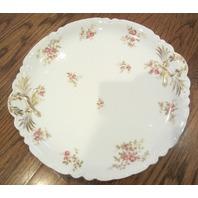 "12.5"" Haviland Limoges Schleiger 455I Sprays Porcelain China Dinner Platter"