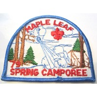 Vintage Uniform Patch Boy Scout Maple Leaf Spring Camporee 1979 Mr. Frost