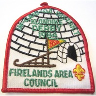 Vintage Uniform Patch Boy Scout Firelands Area Council Klondike Derby 1984
