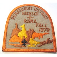 Vintage Uniform Patch Boy Scout Penataquit District Hecksch-O-Rama Fall 1978