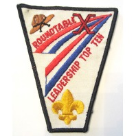 Vintage Uniform Patch Boy Scout Round Table Roundtable Leadership Top Ten X