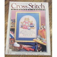 Cross Stitch Lot Booklet Pamplets Country Crafts Tea Time Teddies Nursery Bears