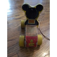 Vintage Fisher Price Mickey Mouse Puddle Jumper Toy #310