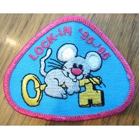 Girl Scout Gs Vintage Uniform Patch Lock-In 1995-96 Mouse With A Key