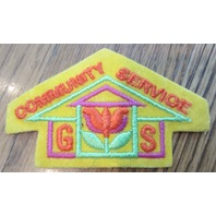 Girl Scout Gs Vintage Uniform Patch  Gs Community Service