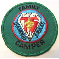 Family Camper Diamond Jubilee 75 Years Boy Scout Uniform Patch