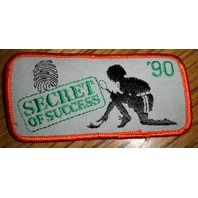 Girl Scouts Gs Vintage Uniform Patch Franklin  Secret Of Success 1990