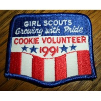 Girl Scouts Gs Vintage Uniform Patch Growing With Pride Cookie Volunteer 1991