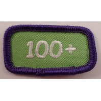 Girl Scout Gs Vintage Uniform Patch 100+ Cookie Sales Purple Green Bar #Gspp