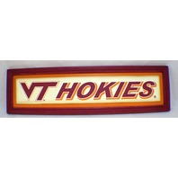 Virginia Tech Hokies VT Wooden Distressed College Sign