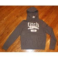 Boys A&F Abercrombie Kids Sweatshirt NWT Sz XL Long Sleeve Gray Hood
