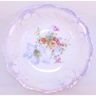 Leuchtenburg Germany Porcelain Bowl With Wild Flower Spray