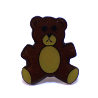 Teddy Bear Hat Lapel Pin