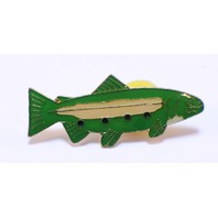 Fishing Fish Hat Lapel Pin
