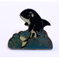 Orcha Whale in the Water Hat Lapel Pin