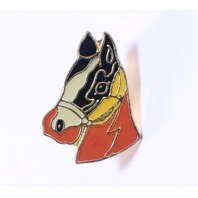 Horse Head Bust  Animal Hat Lapel Pin
