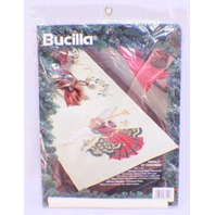 Bucilla Angels of Christmas Table Runner Stamped Cross Stitch #83321