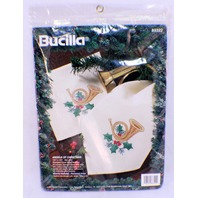 Bucilla Angels of Christmas Set of 8 Napkins Stamped Cross Stitch #83322