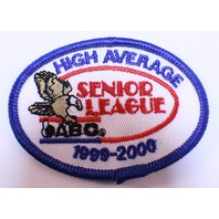 Bowling Uniform Patch High Average Senior League Abc 1999-2000