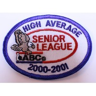 Bowling Uniform Patch High Average Senior League ABC 2000-2001