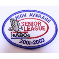 Bowling Uniform Patch High Average Senior League ABC 2001-2002