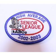 Bowling Uniform Patch High Average Senior League ABC 2002-2003