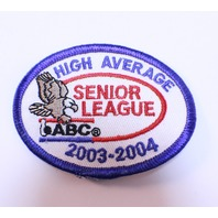 Bowling Uniform Patch High Average Senior League ABC 2003-2004