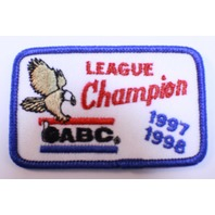 Bowling Uniform Patch High ABC League Champion 1997-1998