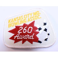 Bowling Uniform Patch High Kansas City Bowling Association 260 Award
