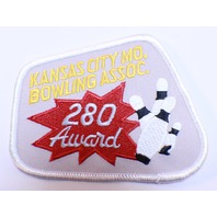 Bowling Uniform Patch High Kansas City Bowling Association 280 Award