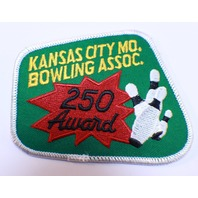 Bowling Uniform Patch High Kansas City Bowling Association 250 Award