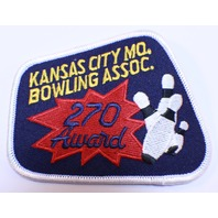 Bowling Uniform Patch High Kansas City Bowling Association 270 Award