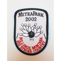 Bowling Uniform Patch High Metra Park 2002 Billings Montana